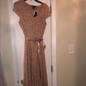 Dresses & Skirts - Nude lace prom dress size small